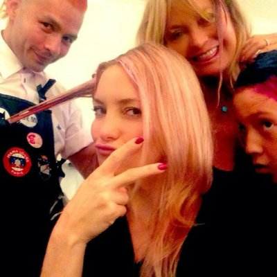 Kate Hudson and Goldie Hawn get pink highlights for breast cancer awareness