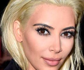Kim Kardashian goes platinum blonde for Paris Fashion Week