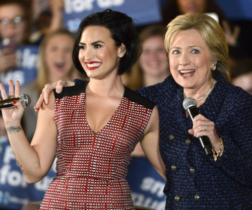 Demi Lovato endorses Hillary Clinton for president at Iowa rally
