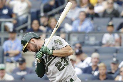 MLB notebook: Oakland Athletics OF Matt Joyce suspended
