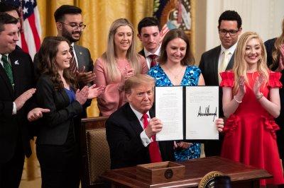 President Donald Trump signs campus free speech order
