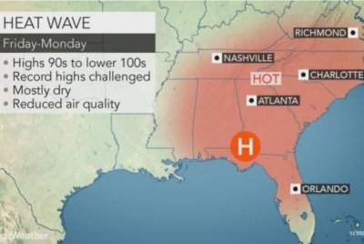 Southeast faces record hot temperatures over Memorial Day weekend