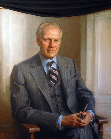 Ford joins Reagan in Capitol rotunda