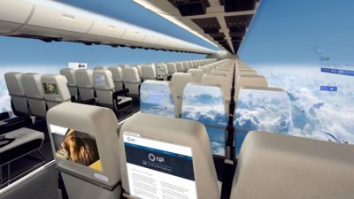 Airplanes of the future are windowless