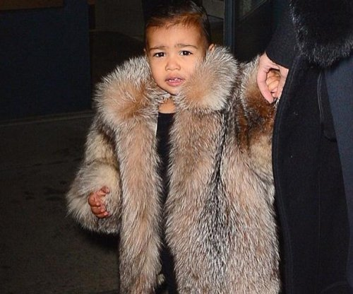North West angers with fur coat during New York Fashion Week