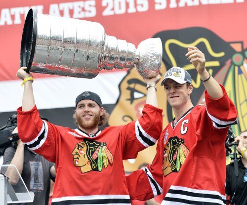 Chicago Blackhawks' Patrick Kane meets with investigators
