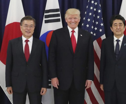 Trump, Moon, Abe express support for added pressure on North Korea