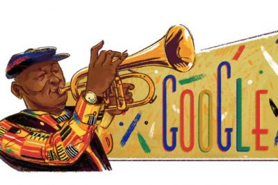 Google honors trumpeter Hugh Masekela with new Doodle