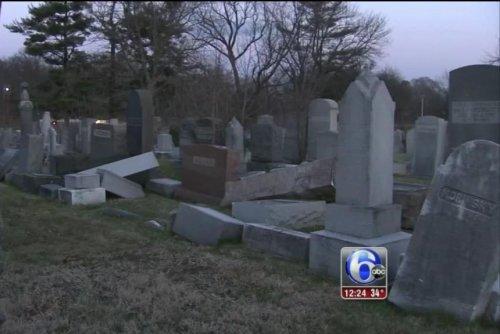 Vandals target headstones at Philadelphia Jewish cemetery