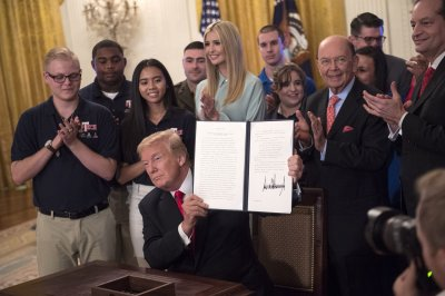 Trump signs order to boost 'forgotten' American workforce