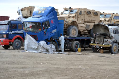 Sit-ins staged along NATO supply roads in Pakistan