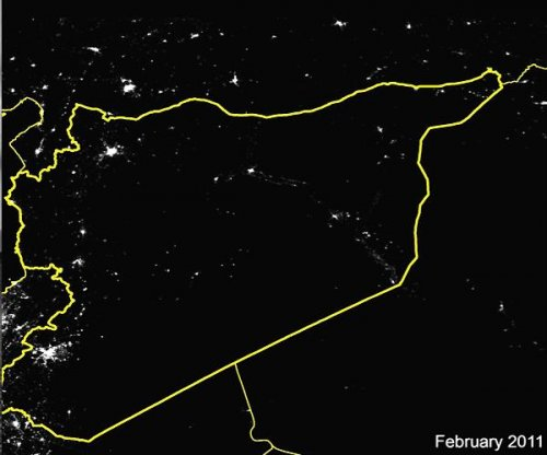 Syria plunged into darkness by war; 83 percent of lights have gone out