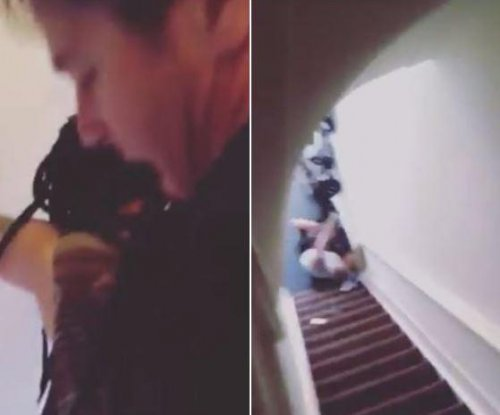 Dutch Airbnb host throws guest down stairs in video