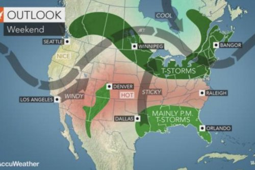 Heat to dominate much of U.S. ahead of Fourth of July