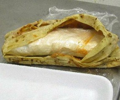 Customs officers find burritos contain meth, no guac