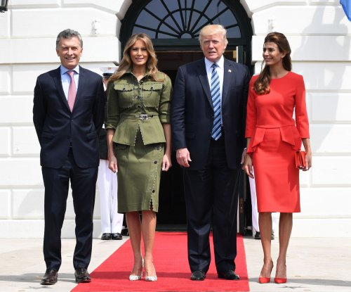 Trumps welcome Argentina President Mauricio Macri to White House