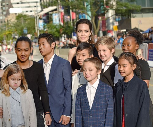 Angelina Jolie brings her six kids to TIFF premiere