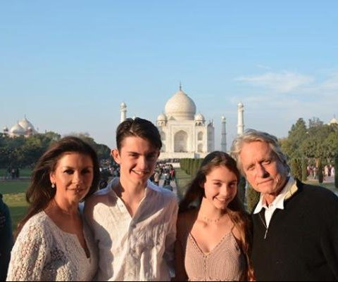 Catherine Zeta-Jones, Michael Douglas visit India with their kids
