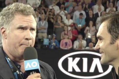 Will Ferrell crashes Australian Open as Ron Burgundy