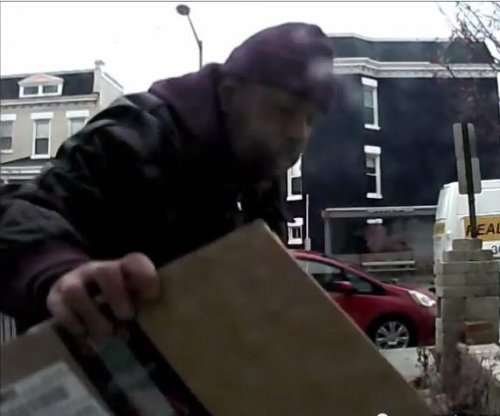Package thief tricked into taking parcel of poop