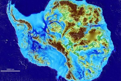 Map reveals land beneath Antarctic ice sheet in unprecedented detail