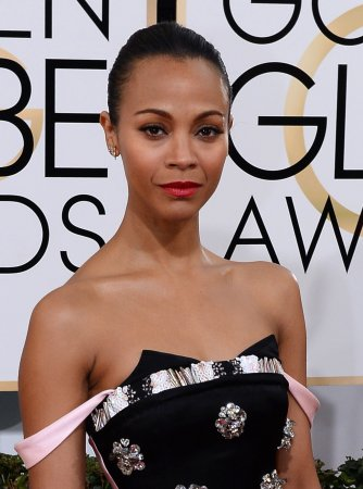 Zoe Saldana makes first public appearance with husband Marco Perego