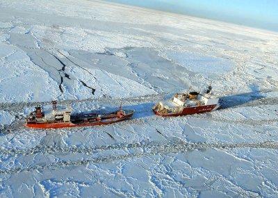 Ocean waves help break up arctic ice sheets