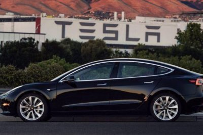 Elon Musk share first pics of Tesla's finished Model 3