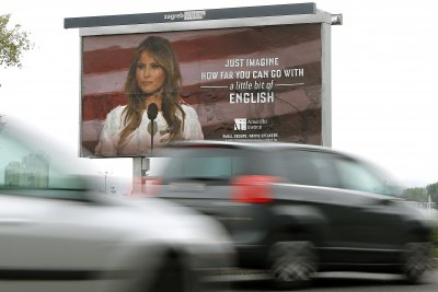 Billboards with Melania Trump pulled in Croatia after legal threat