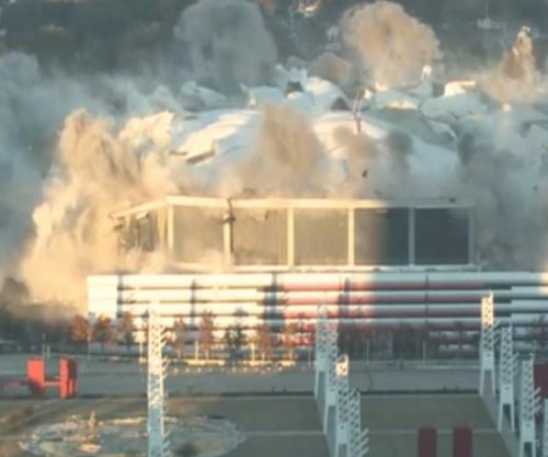 4,000 pounds of explosives implode Atlanta's Georgia Dome
