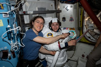 Watch live: Meir, Koch remove broken power controller during all-female spacewalk