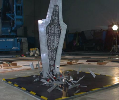3,000-piece Star Wars Lego Star Destroyer shatters in slow motion