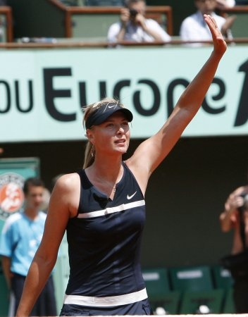 Sharapova slips to fourth in ranking