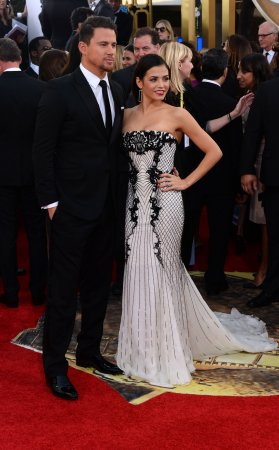 Jenna Dewan flaunts post-baby bod in curvy Roberto Cavalli