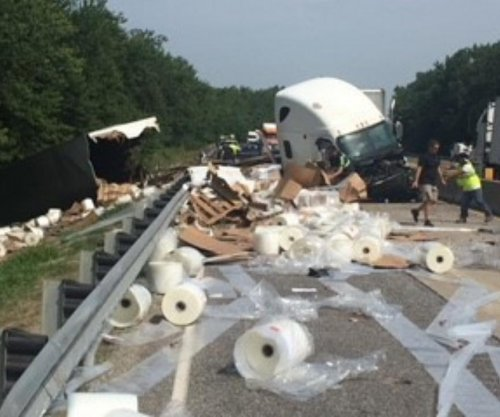 Semi driver crashes on highway while trying to swat fly