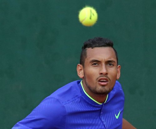 Miami Open: Nick Kyrgios sneaks underhand ace, argues with fan