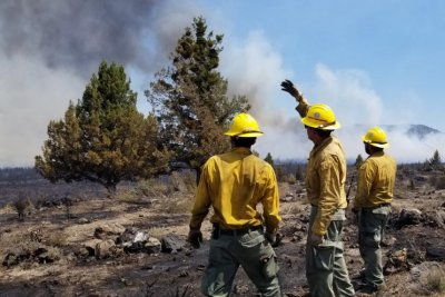 Fires merge to become California's largest wildfire since 2018