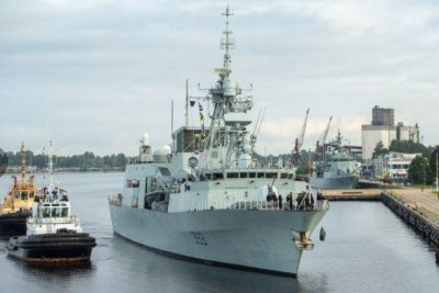 NATO ships, aircraft conduct exercises with Latvian navy