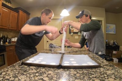 Idaho men stack 47 bars of soap for Guinness World Record