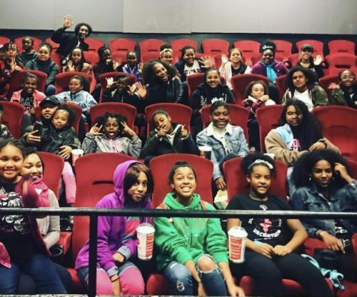 Serena Williams surprises Black Girls Code group at 'Black Panther' screening
