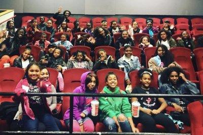 Serena Williams surprises Black Girls Code group at 'Black Panther' screening