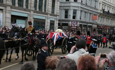 Britain says goodbye to Margaret Thatcher