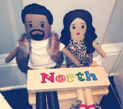 North West has a set of dolls that look like Kim Kardashian, Kanye West