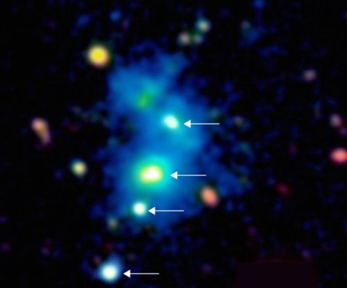Scientists discover first quadruple quasar