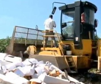 Russia destroys massive piles of food in retaliatory ban against the West