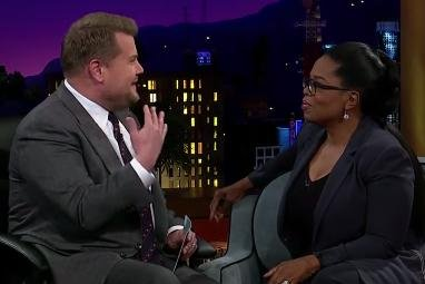 Oprah Winfrey makes James Corden cry on 'Late Late Show'