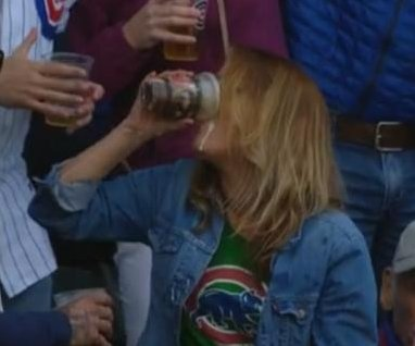 Cubs fan catches ball in beer, chugs the beer