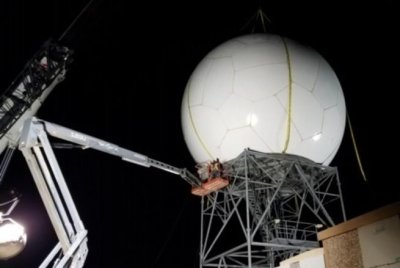 First new DoD NEXRAD weather radar installed at Cannon Air Force Base