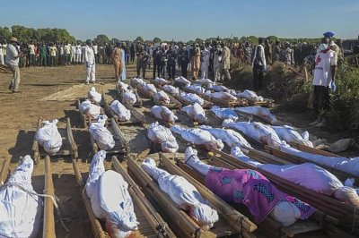More than 100 Nigerian farmers killed in suspected terrorist attack