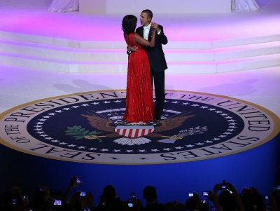 Michelle Obama dazzles in red Jason Wu gown at inaugural balls